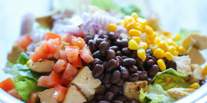 Quick And Healthy BBQ Chicken Salad