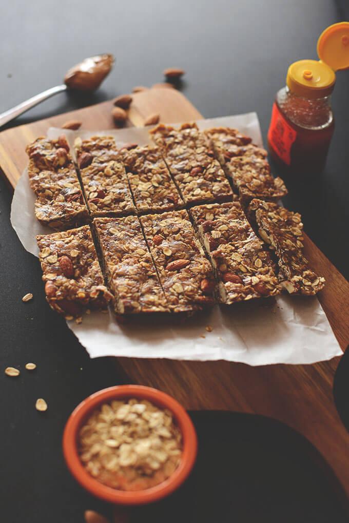 Crunchy Peanut Butter Granola Bar Recipe