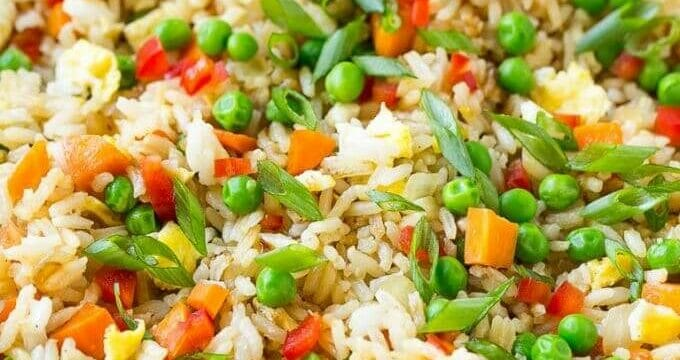 Homemade Vegetable Rice With Egg