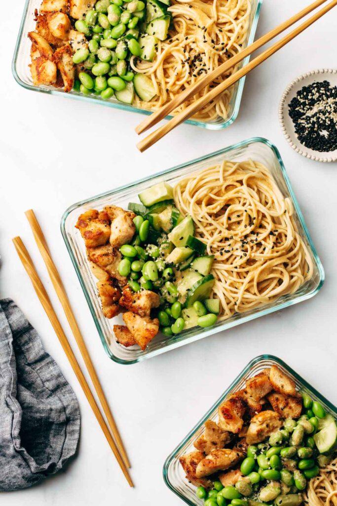 Sesame Noodle Bowls
