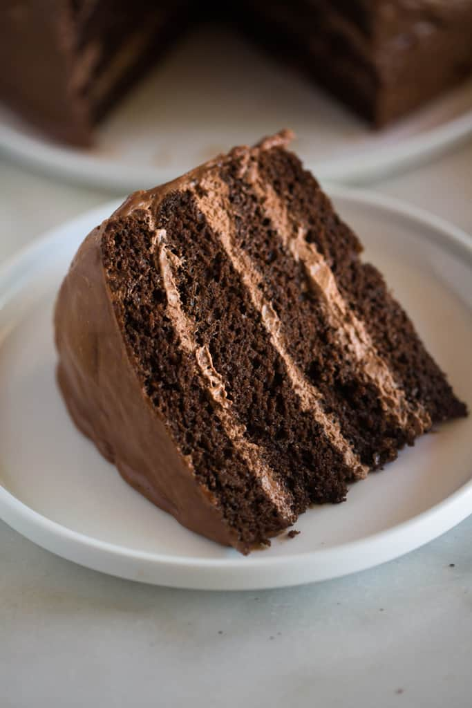 Chocolate Cake With Mousse Filling And Ganache