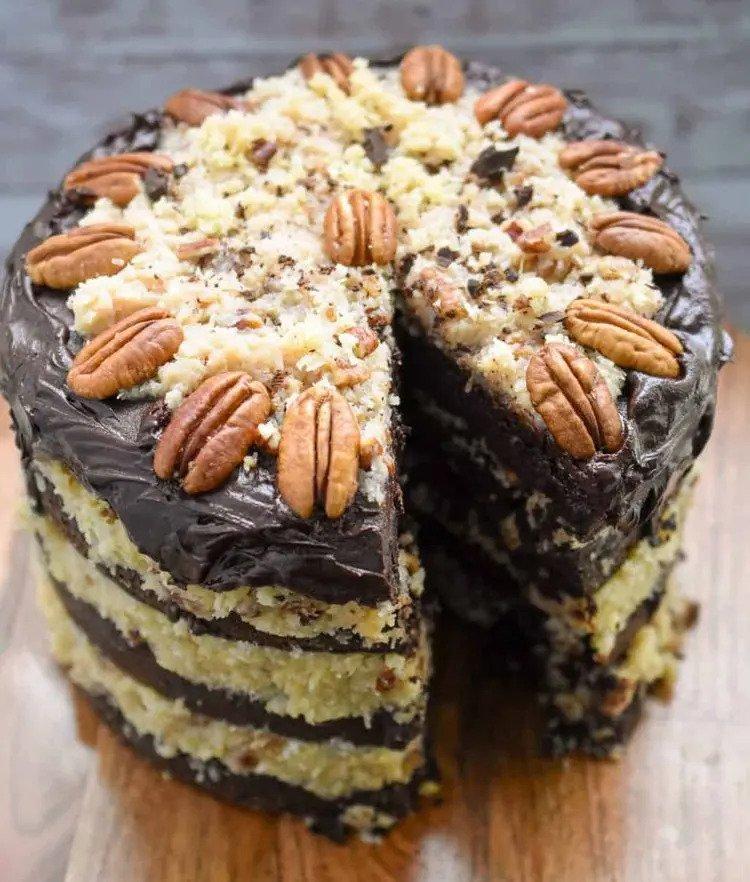 German chocolate cake recipe with cocoa powder