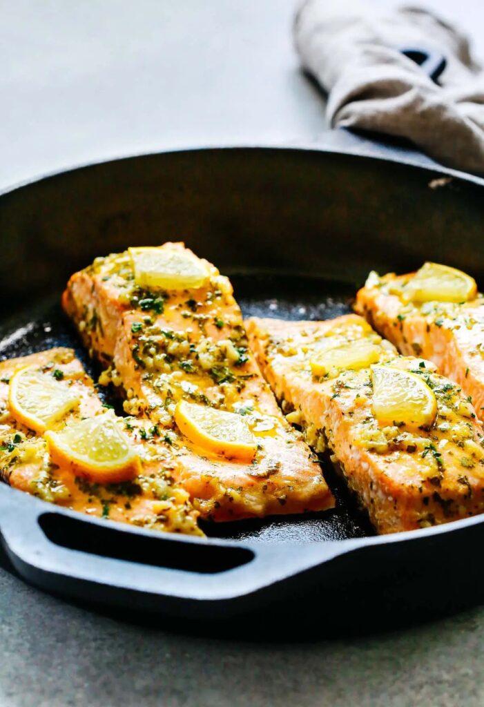 Baked Salmon with Garlic and Dijon