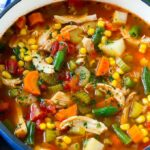 Chicken Soup With Beans And Vegetables